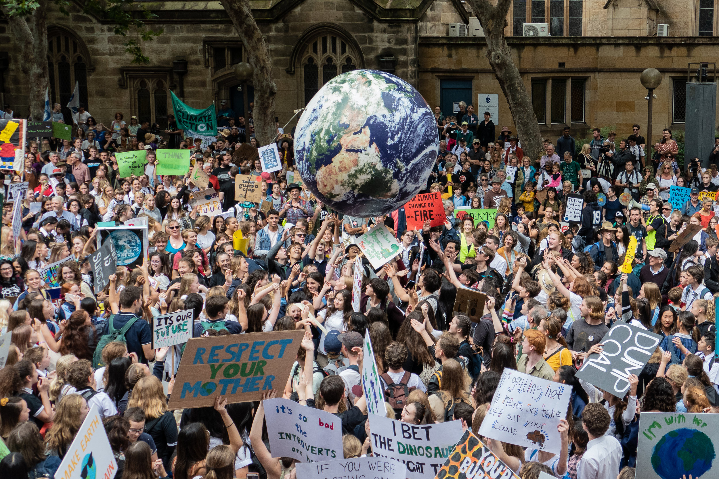 In Sydney, 20,000 Australian students joined the March 15, 2019, strike for climate action. Credit: Shutterstock.com