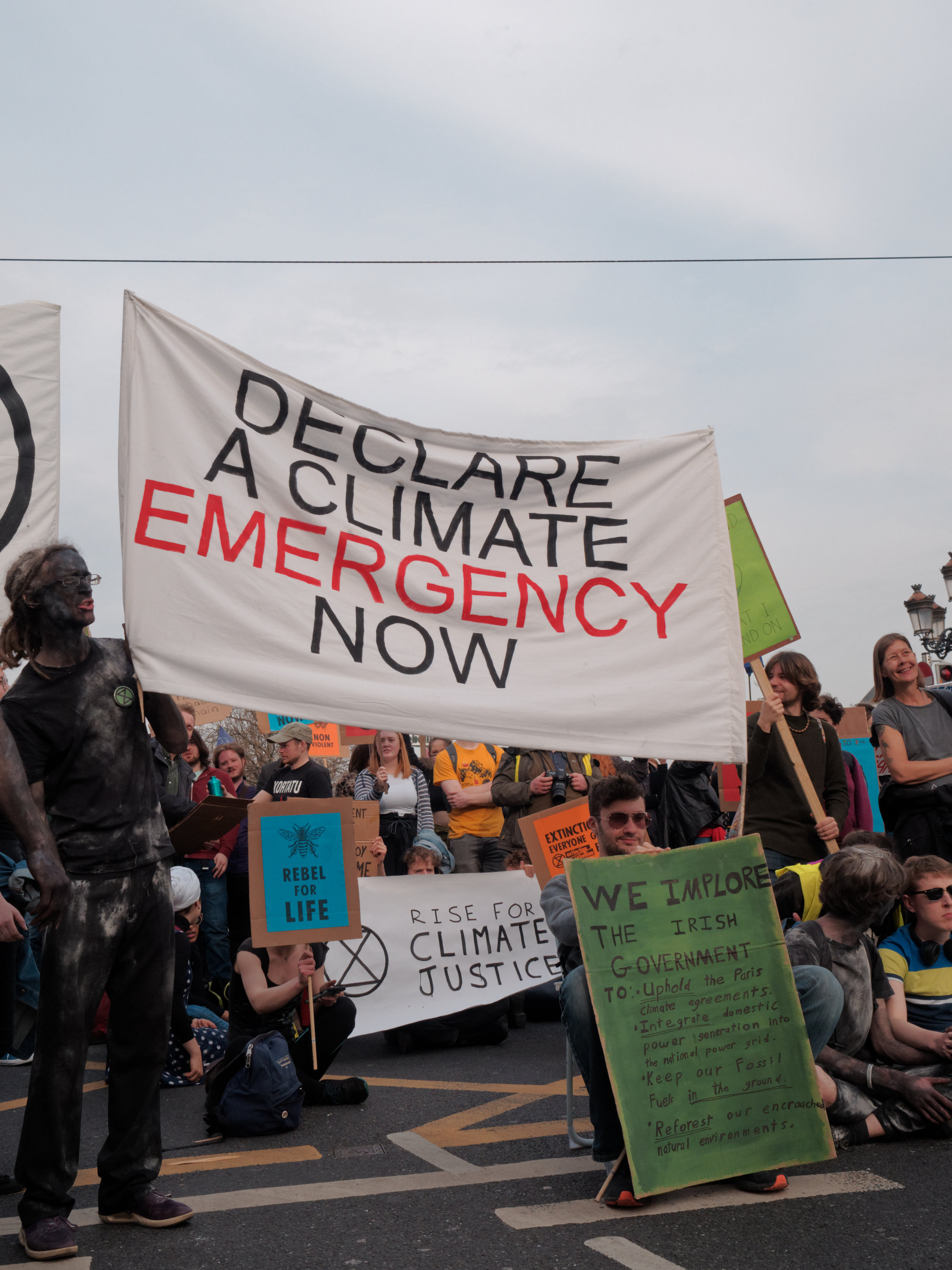 Irish rally in 2019 for a climate emergency declaration. Credit: Shutterstock.com