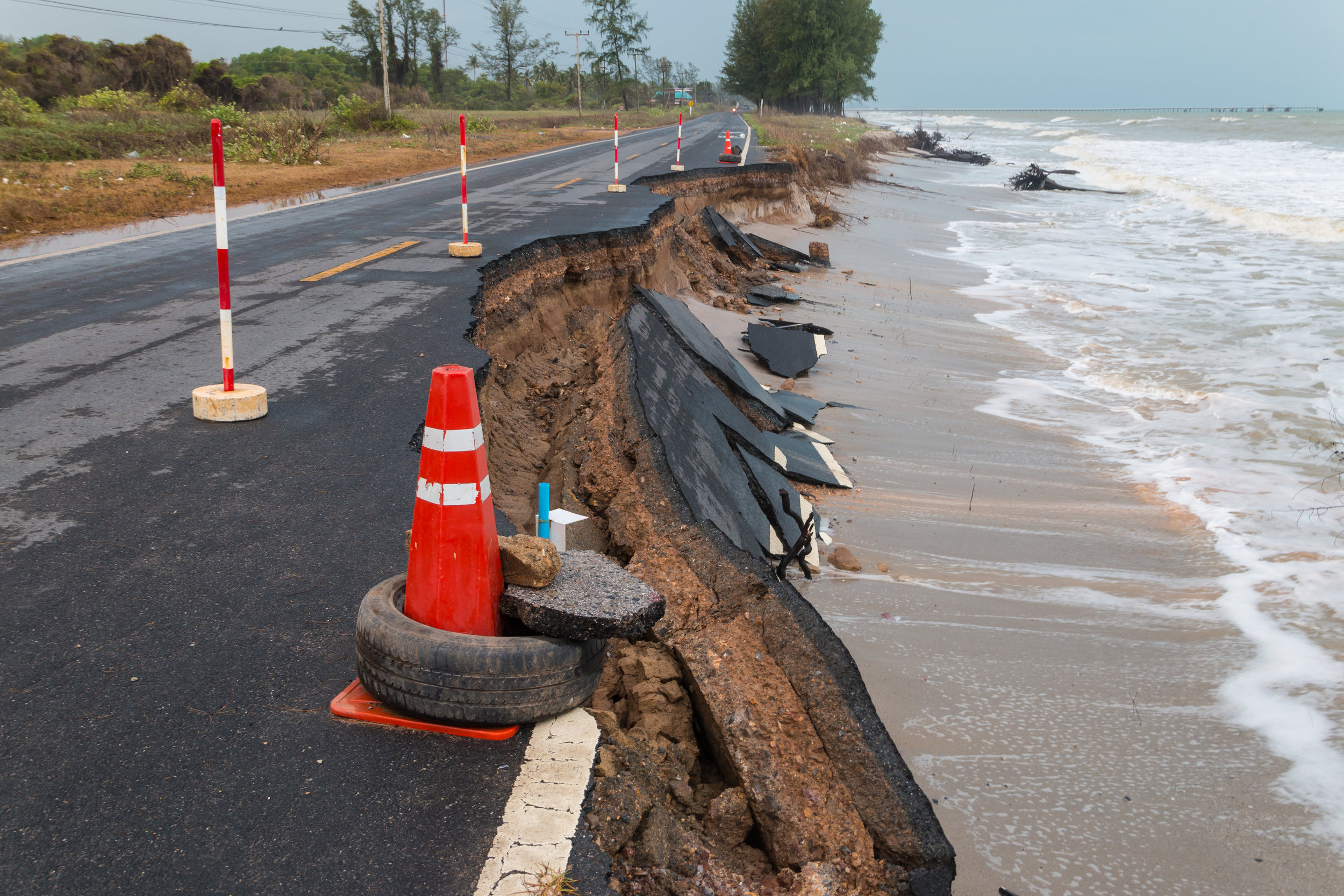 40% of US population lives in coastal counties where infrastructure is at greatest risk from climate change. Credit: Shutterstock.com