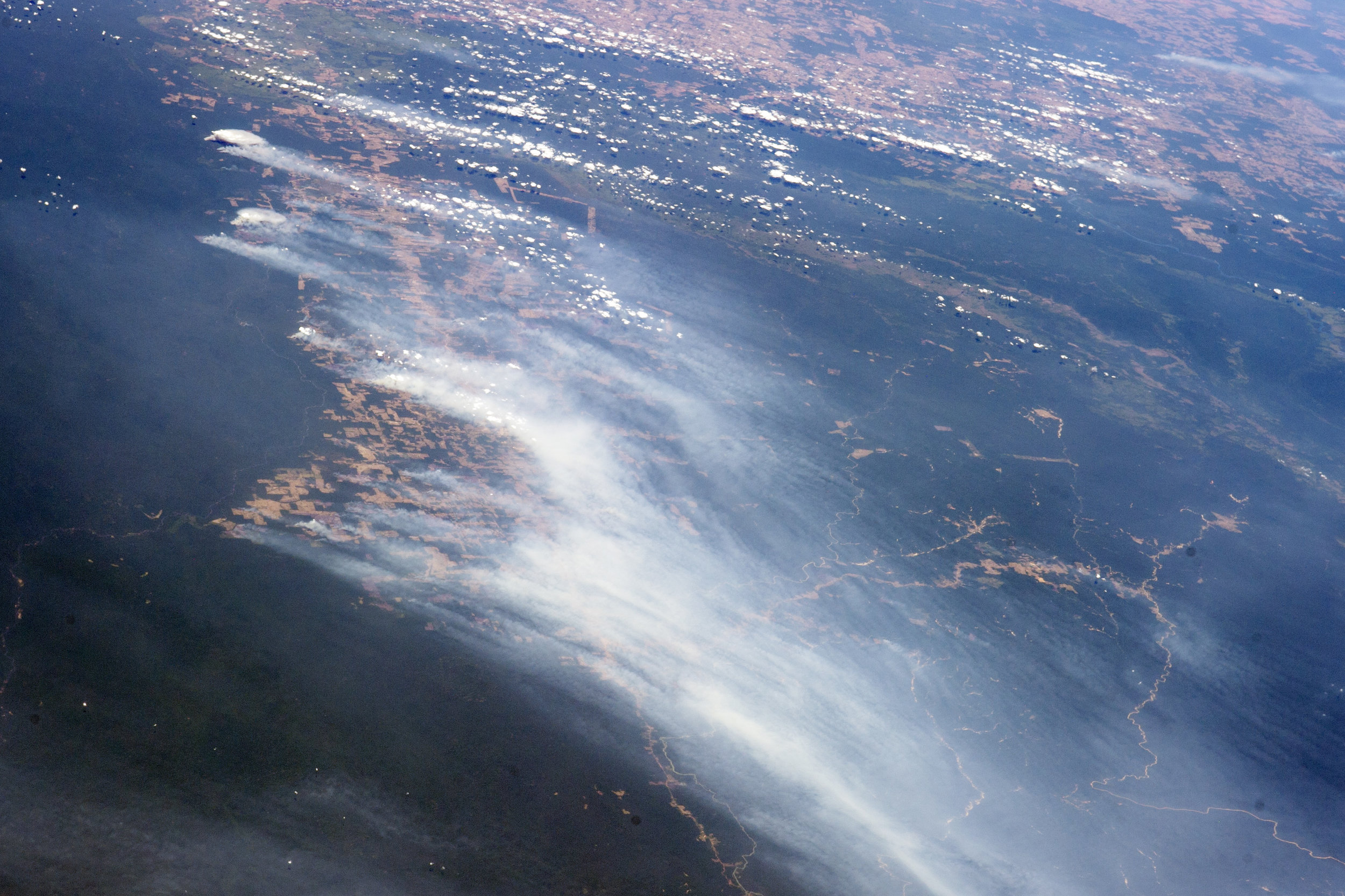 Amazon fires seen from space, August 2019