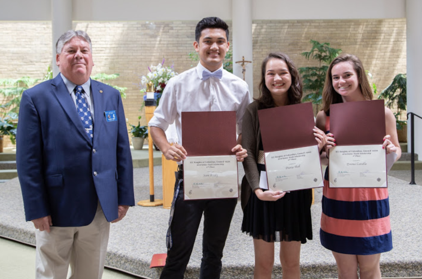 Knights of Columbus Youth Scholarship Awards - June 11, 2018