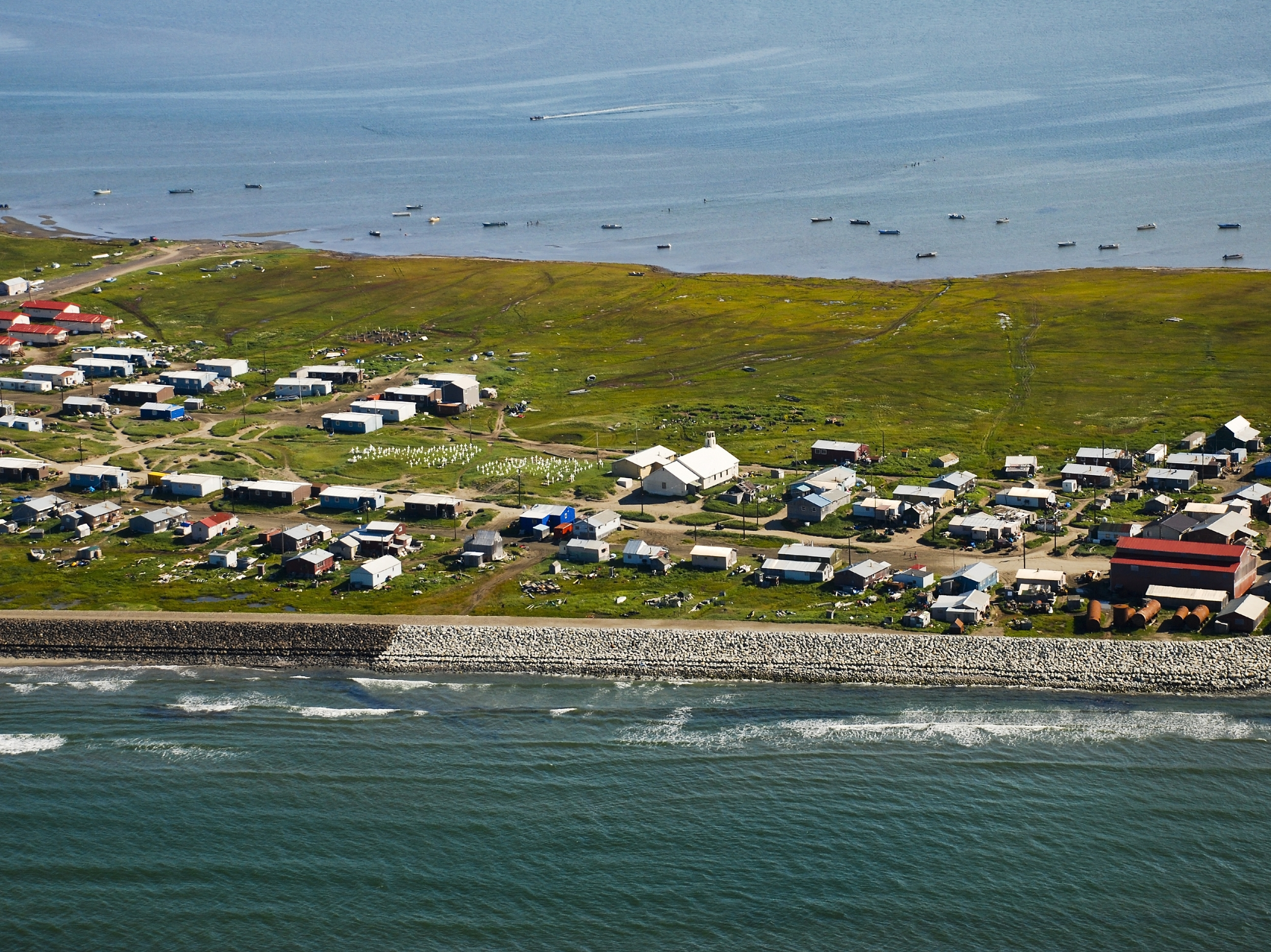 SHISHMAREF    is a traditional Inupiat Native mixed-subsistence village, in which residents combine cash incomes with living off the land and sea. It is located in the Bering Land Bridge Natural Preserve, and is home to around 550 people. It is also located off of the road system, and has a total area of 7.3 square miles, of which, 2.8 square miles is land and 4.5 square miles is water (according to the United States Census Bureau).