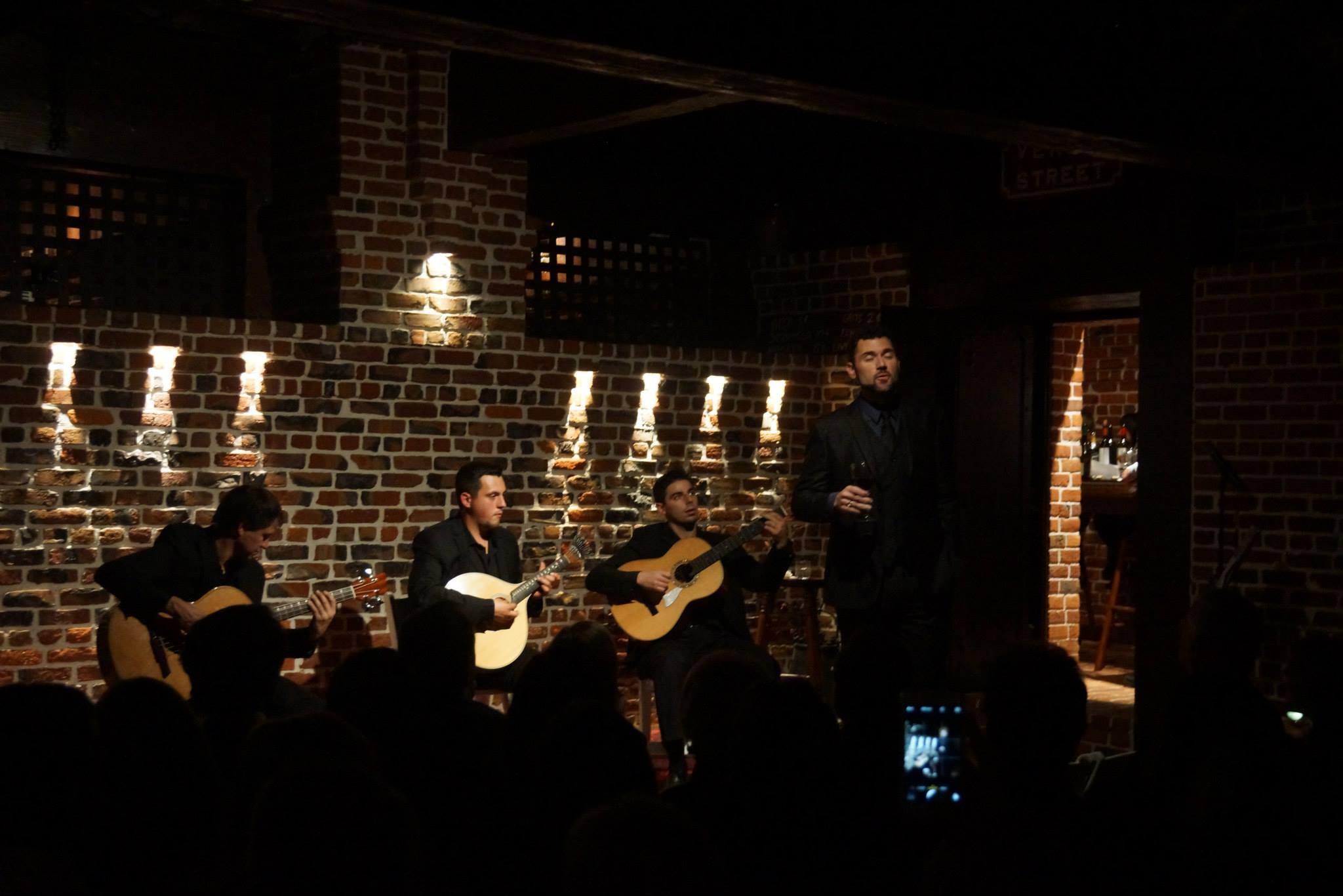Fadista David Silveira Garcia  performing   at The Pines.