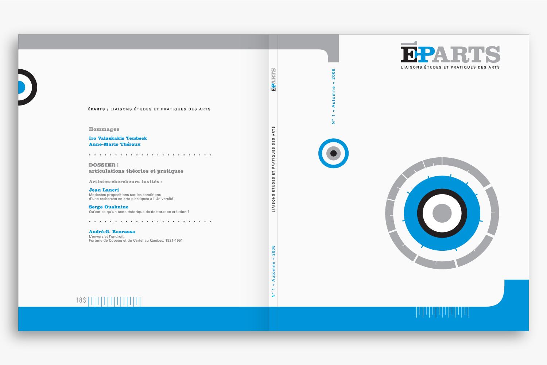 ÉPARTS – Art Magazine Design – Identity, Edition & Typography by Isabelle Robida – Infrarouge [Design & Culture] – 2006
