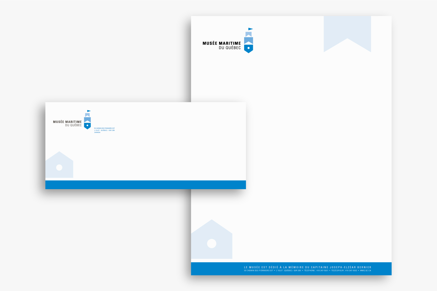 MMQ – Musée maritime du Québec – Identity & Stationery by Isabelle Robida – Infrarouge [Design & Culture] – 2007 – infrarouge.ca