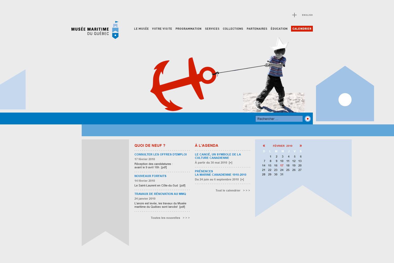 MMQ – Musée maritime du Québec – Identity & Web Design by Isabelle Robida – Infrarouge [Design & Culture] – 2007 / 2011 – infrarouge.ca