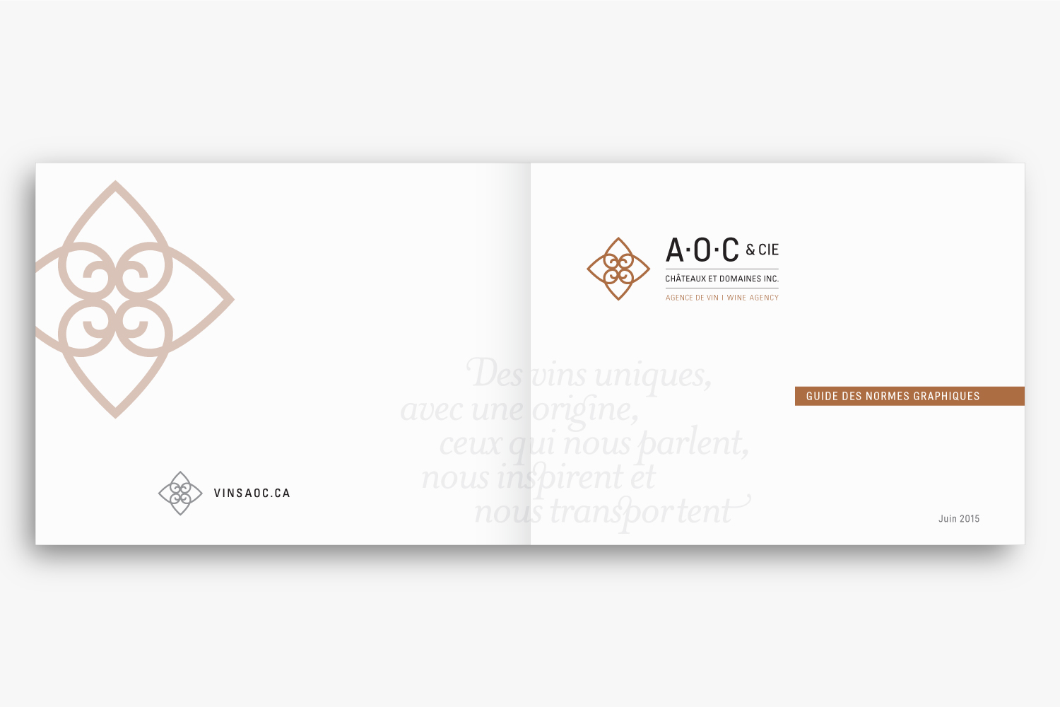 A.O.C. & CIE – Wine Agency – Identity, Web & Typography by Isabelle Robida – Infrarouge [Design & Culture] – 2015