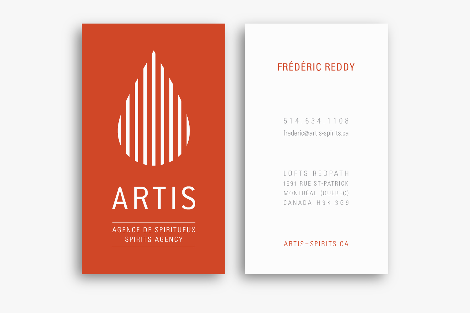 ARTIS – Spirits Agency – Identity & Stationery by Isabelle Robida – Infrarouge [Design & Culture] – 2015 – infrarouge.ca