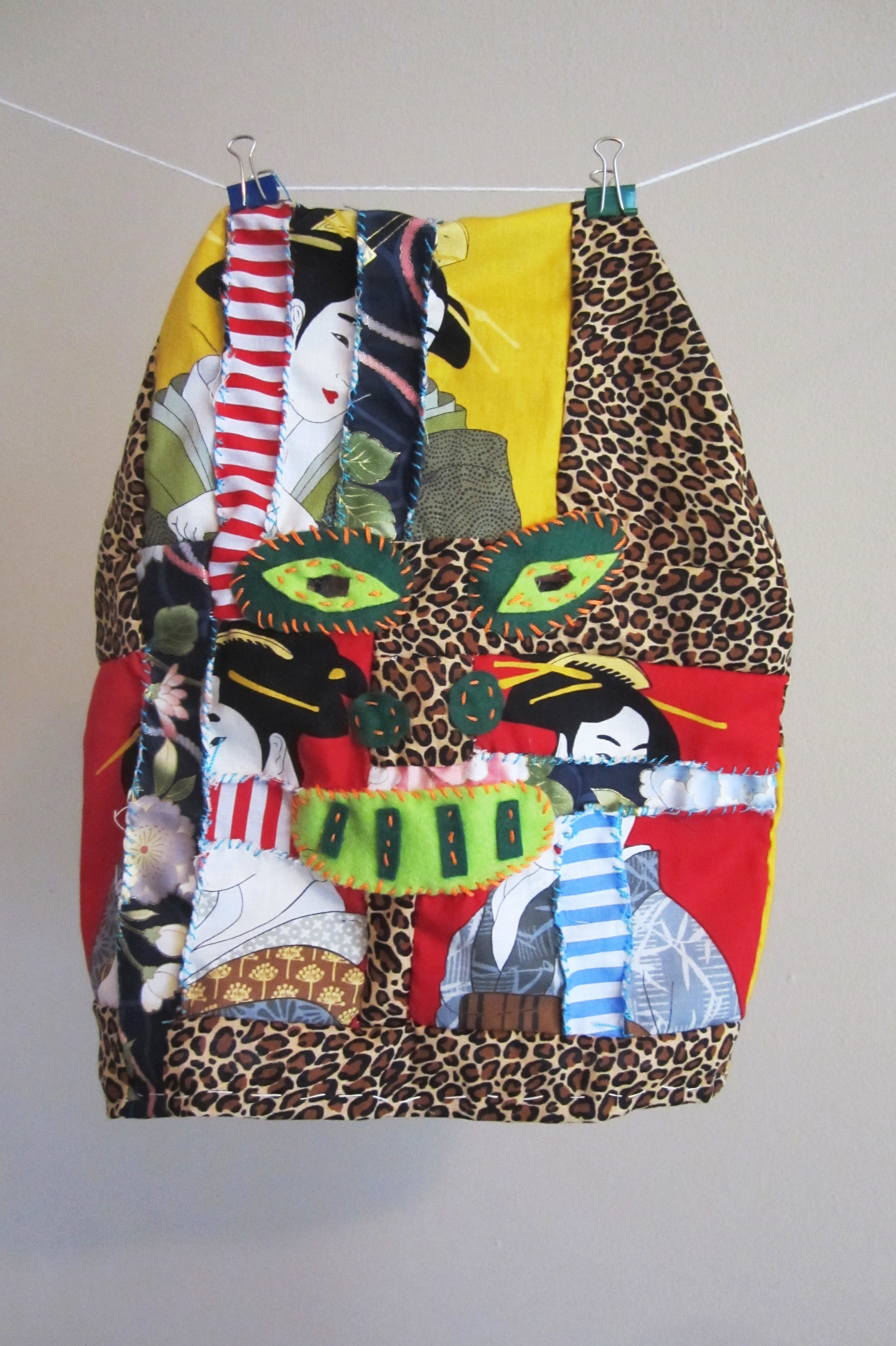 Mask 2, 2015  fabric  15 x 12 inches