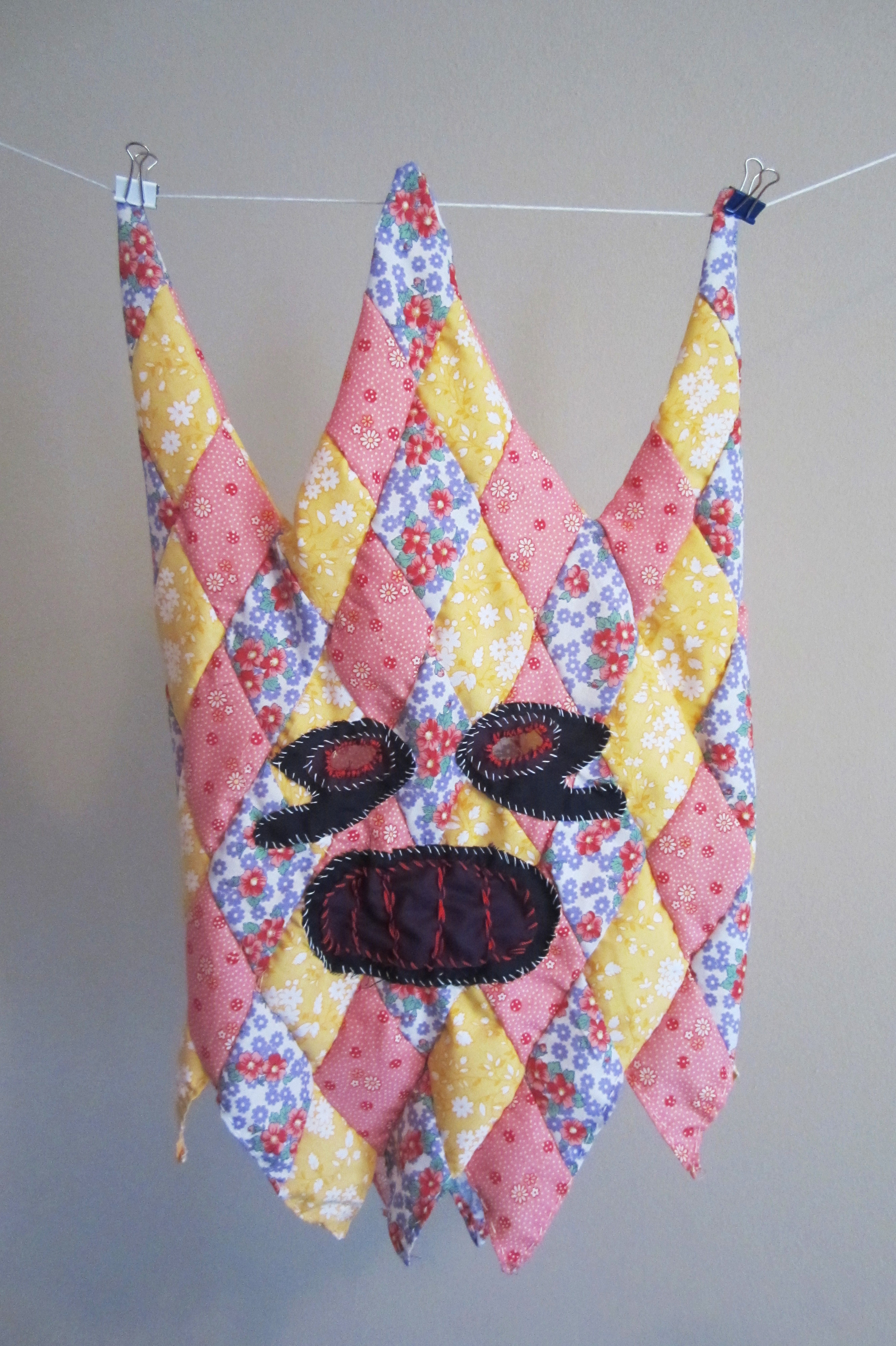 Mask 3, 2015  fabric  21 x 12 inches