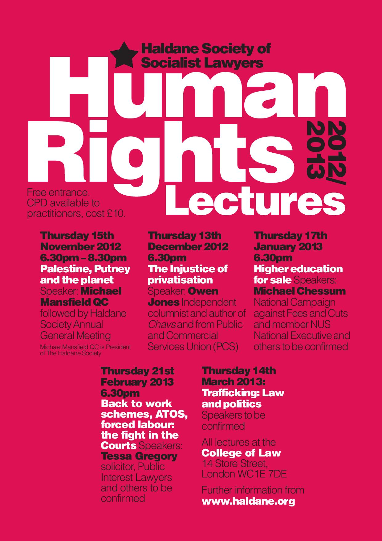 The image in this article contains information on the lecture series, and is a link to the lectures page of this website.