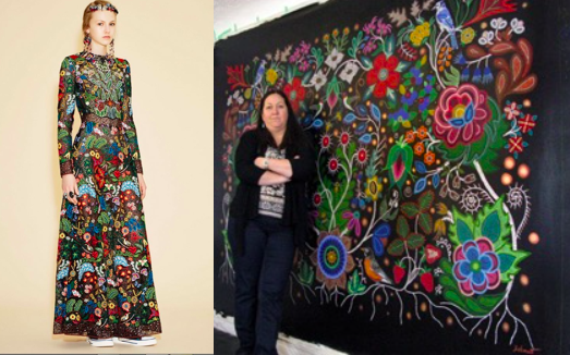 DISCOVER MÉTIS ARTIST,   CHRISTI BELCOURT   WHOSE ART INSPIRED PARIS RUNWAYS AND WHOSE FIGHT TO PROTECT THE ENVIRONMENT AND TO HNOUR INDIGENOUS NATIONS IS ACCLAIMED IN SCHOOLS AND THROUGHOUT NORTH AMERICA.