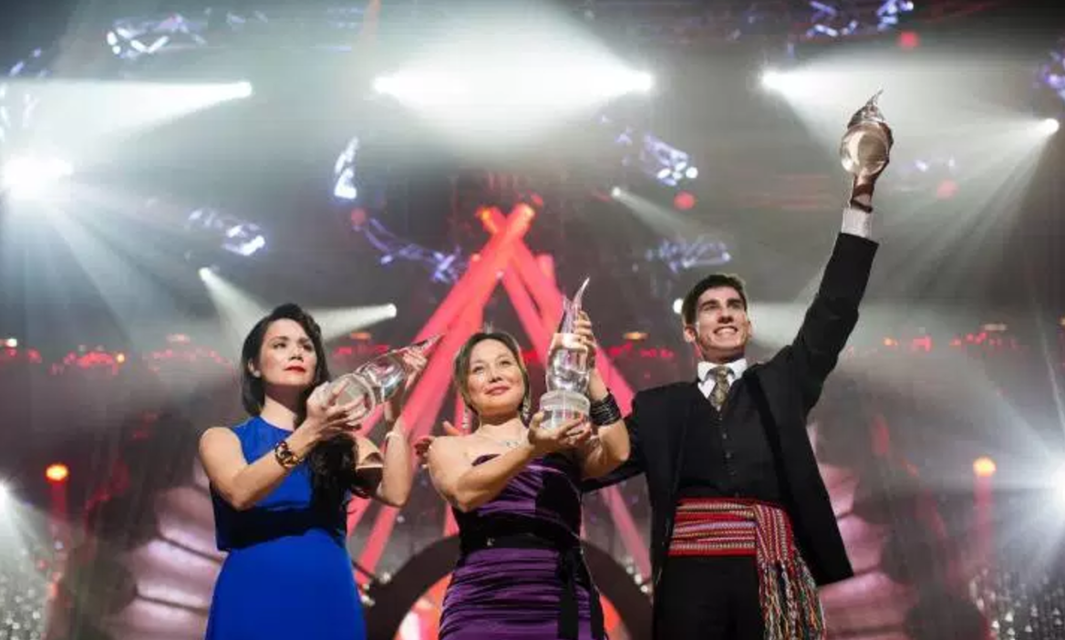 Browse through the Canadian list of   indspire awards   (laureates) for artists that have been awarded due to their artistic merit (focus in arts)