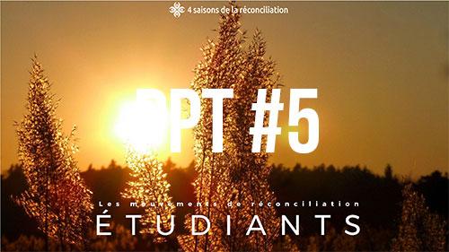 Les movements de réconciliation étudiants