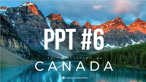 La réstitution au Canada