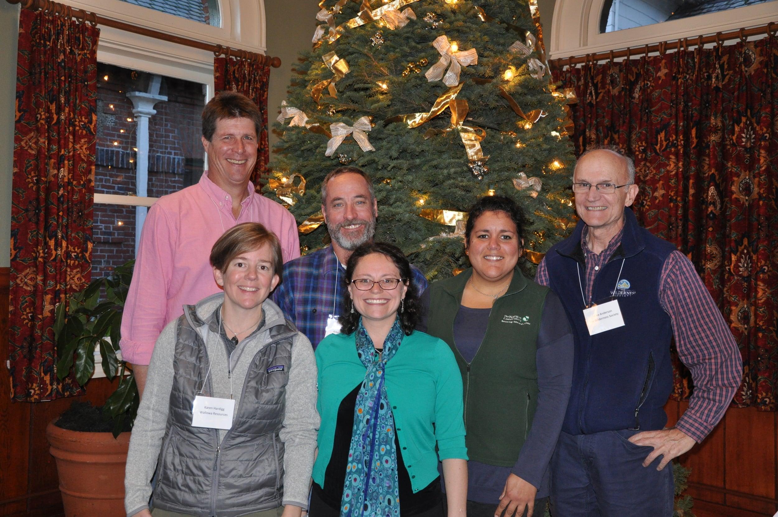 (From left) Greg Aplet, Karen Hardigg, Tom Fry, Meryl Harrell, Cecilia Clavet, and Mike Anderson