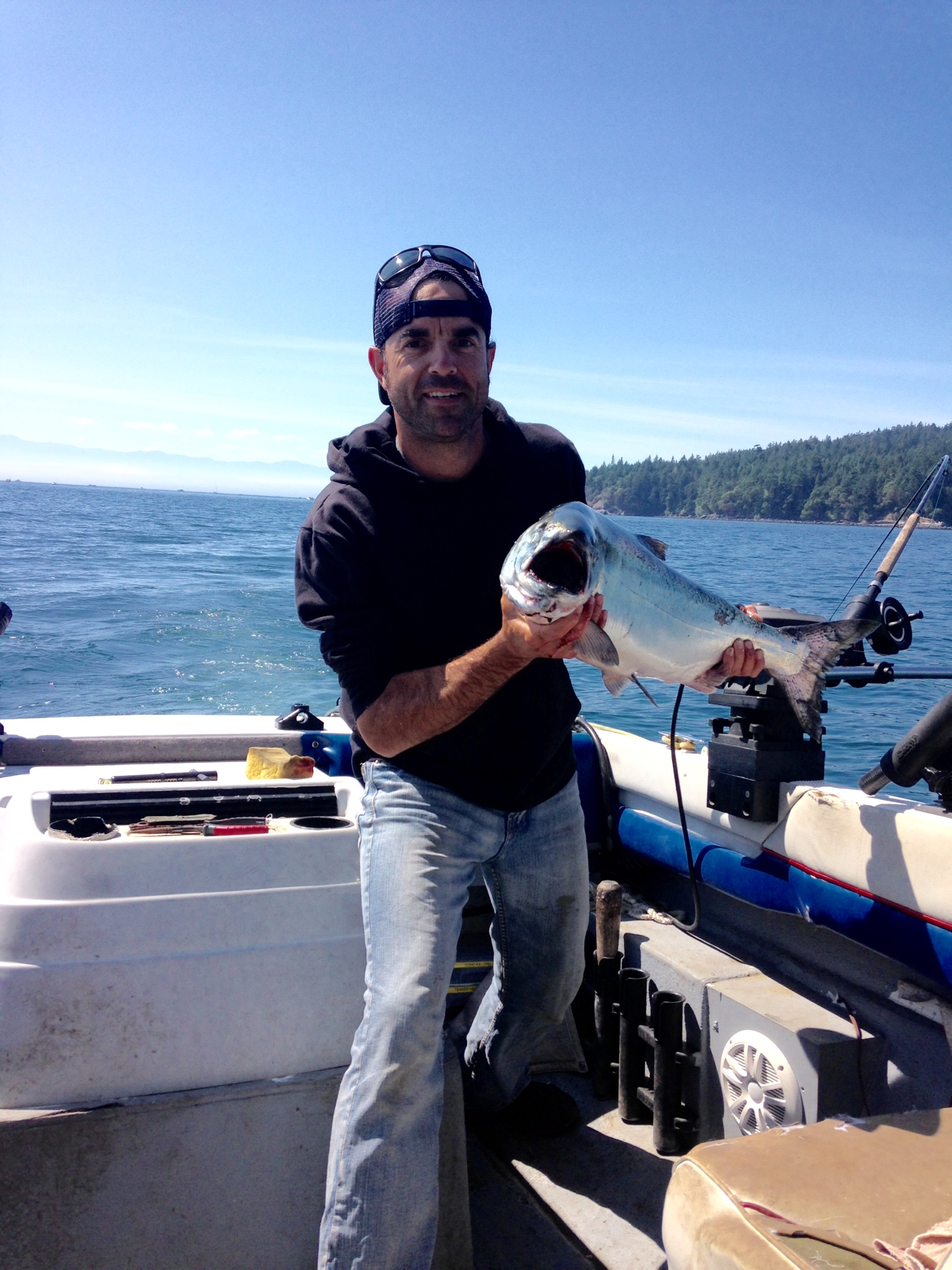Rico from with a nice one off of Sooke, BC, on an AP Sandlance Spoon