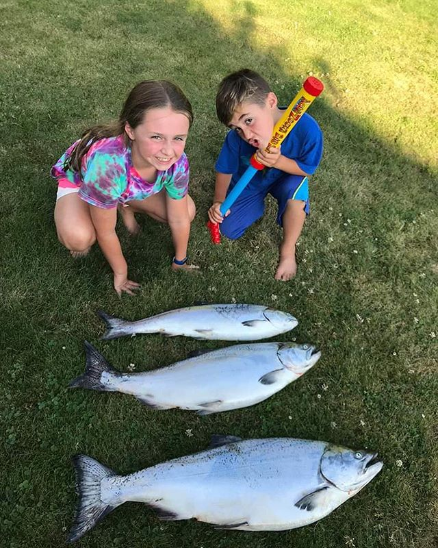 "It doesn't get much better than a great day on the water with your kids. Unless of course you sweep the local derby with dad taking the win and daughter taking home the under 12 category! And, all for a great cause too. Both caught on their trusty 4"" Sandlance Cop Car 🚓! Nicely done Derek and fam! 👊👍 . . .  #takeakidfishing #familyfishing #westcoastculture #fishing #powellriver"