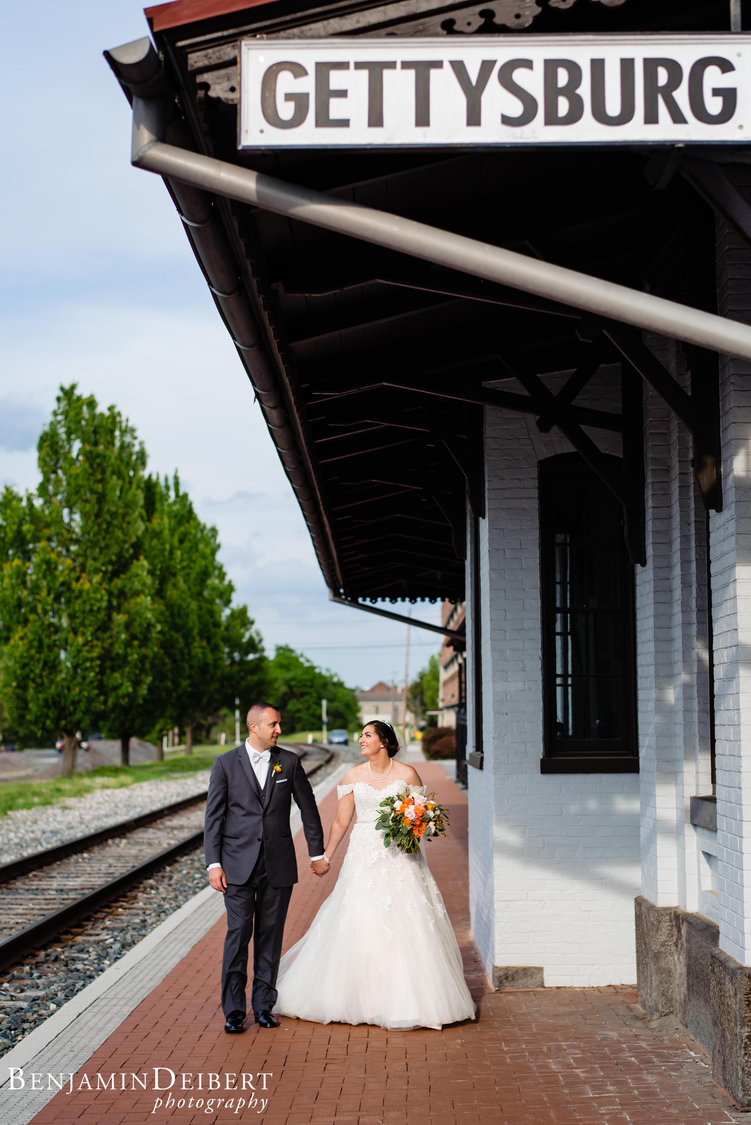 Meighan and Michael_Gettysburg Hotel Train Station_Wedding-16.jpg