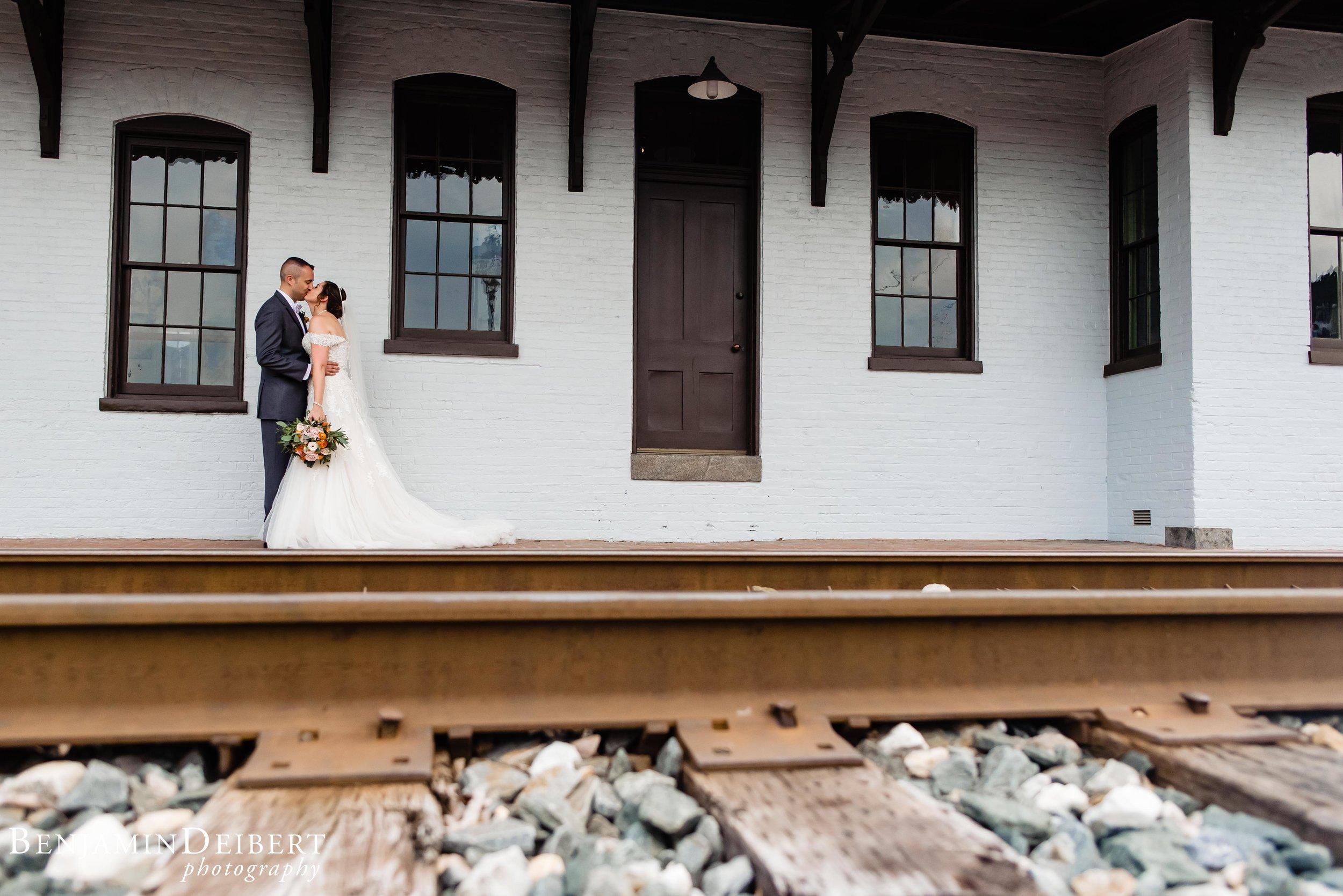 Meighan and Michael_Gettysburg Hotel Train Station_Wedding-3.jpg