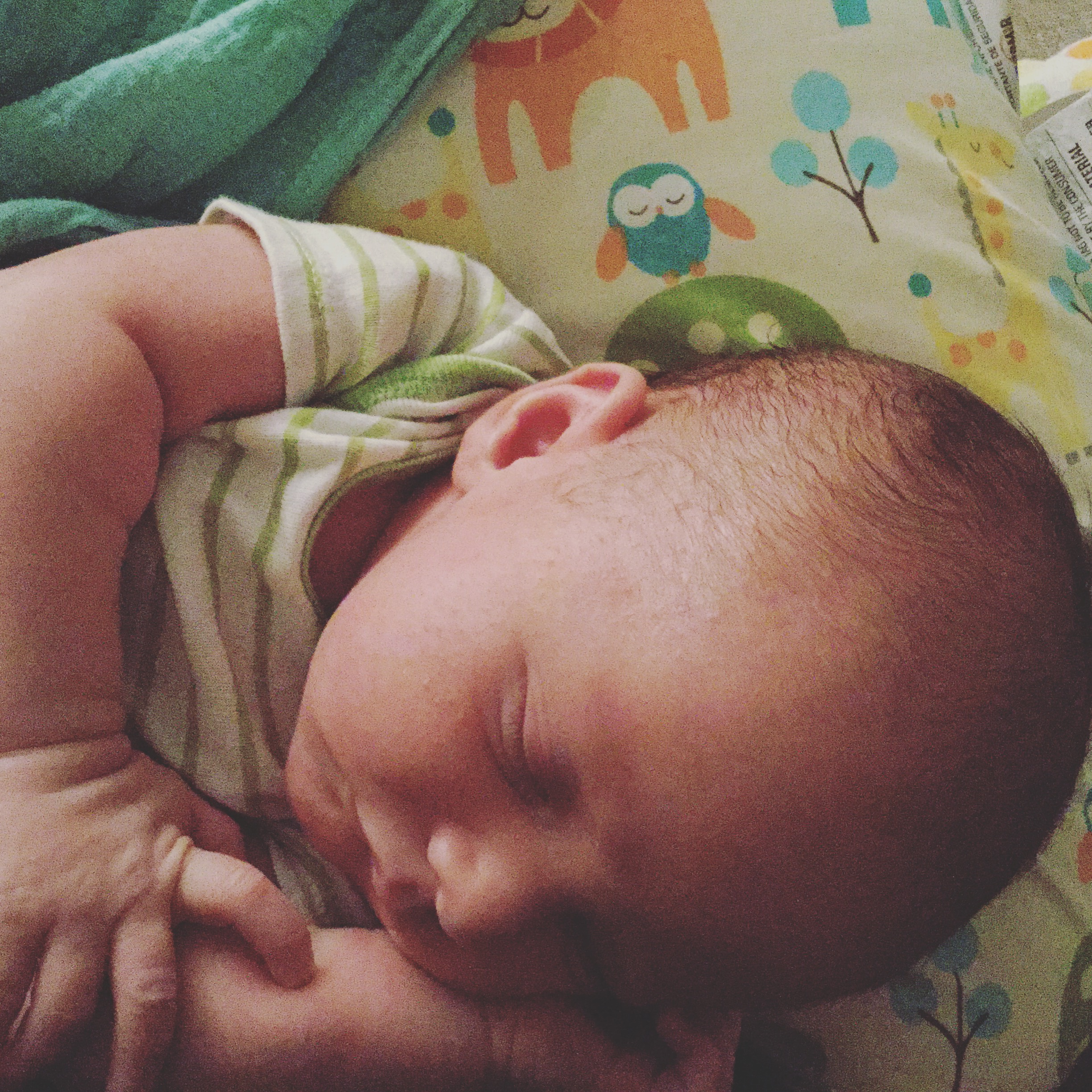Here, have a Braedon at a month old! Isn't he darling?
