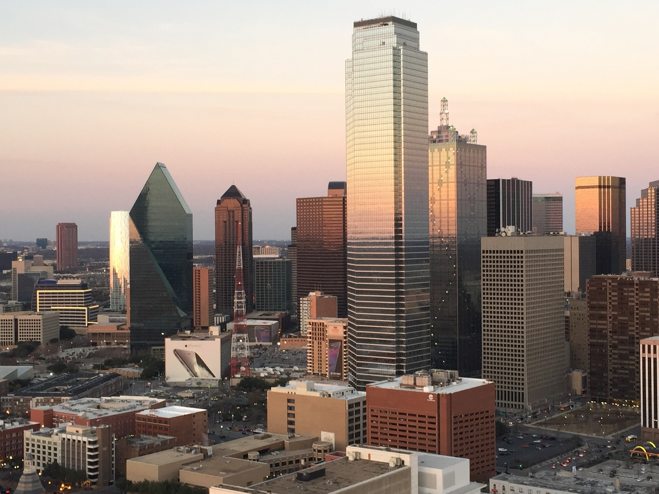 The view from Reunion Tower