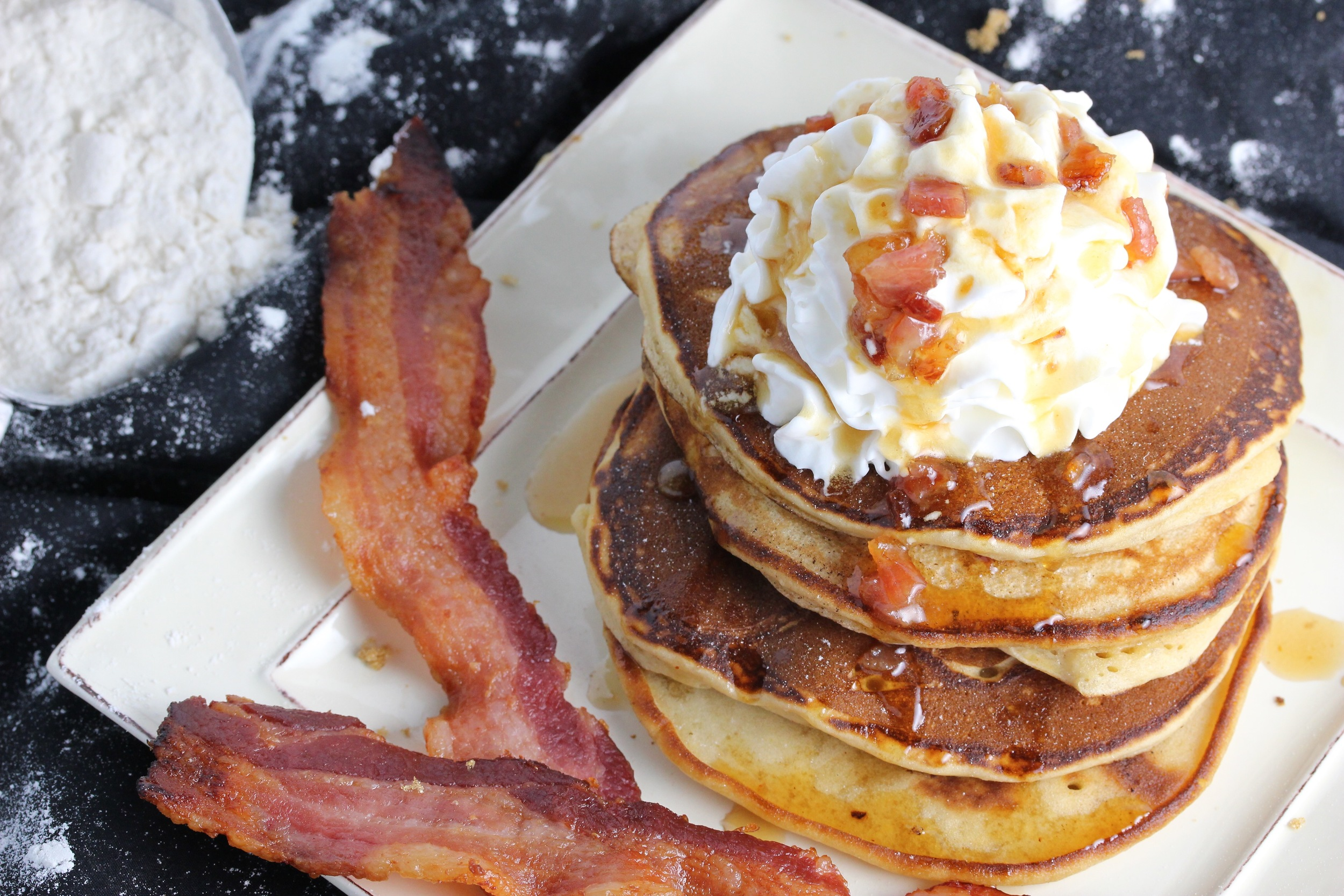 Maple bacon pancakes- these were just, orgasmically amazing.
