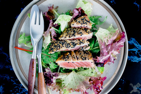 Ahi is the best... look at this salad...