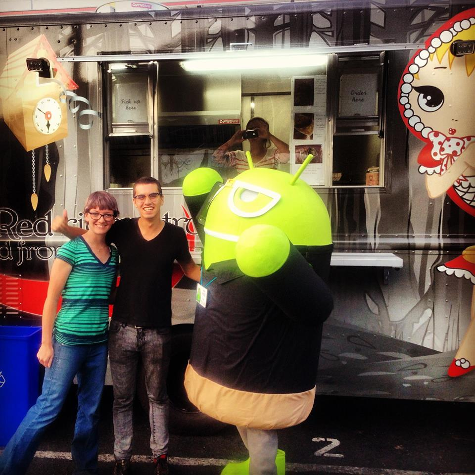 Cheffing at an Android catering event!