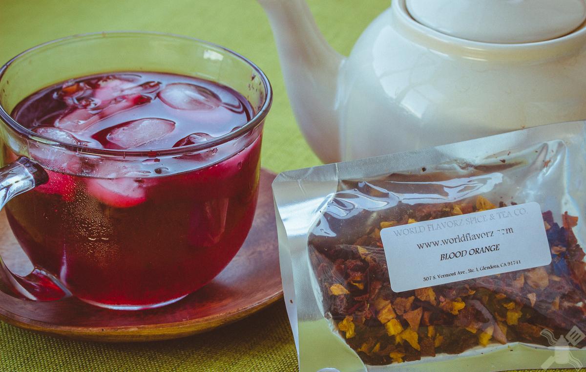 Blood orange Iced tea