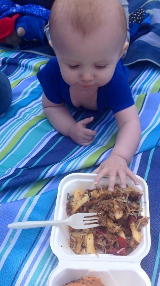 Braedon wants porky fries