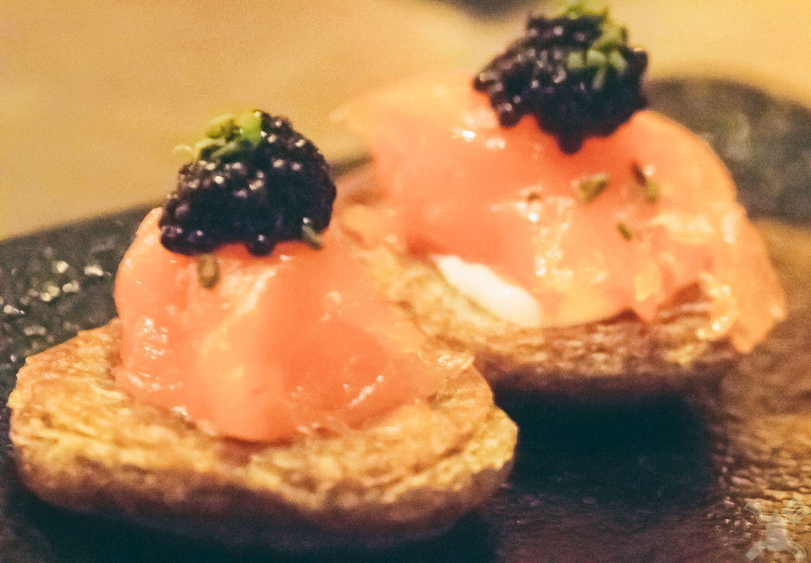 This salmon with caviar was so beyond perfect!