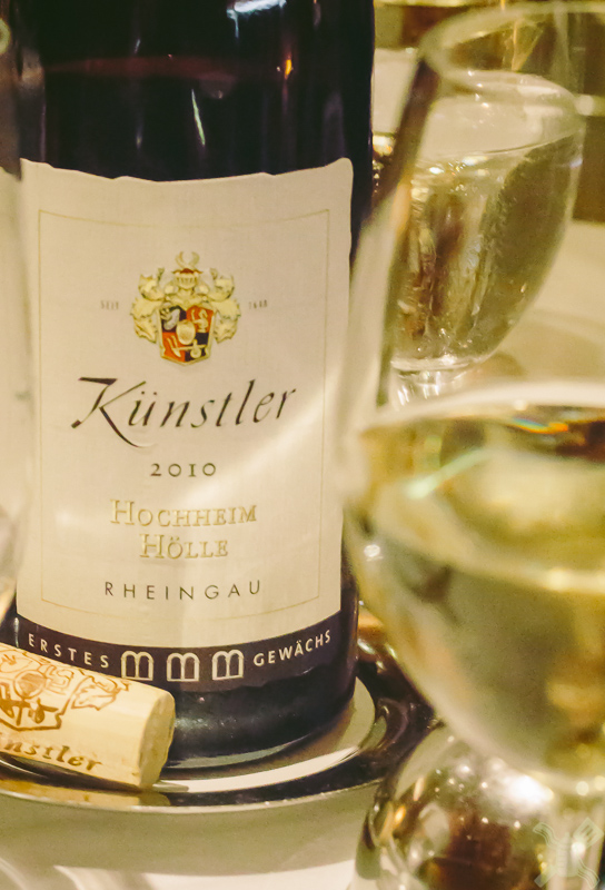 Kunstler is the perfect Riesling for the decadence of the meal at Gary Danko's