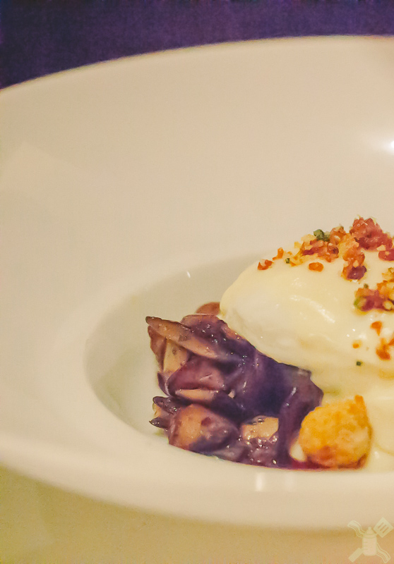Gareth's Poached Egg with Bacon Brioche and Sweatbreads