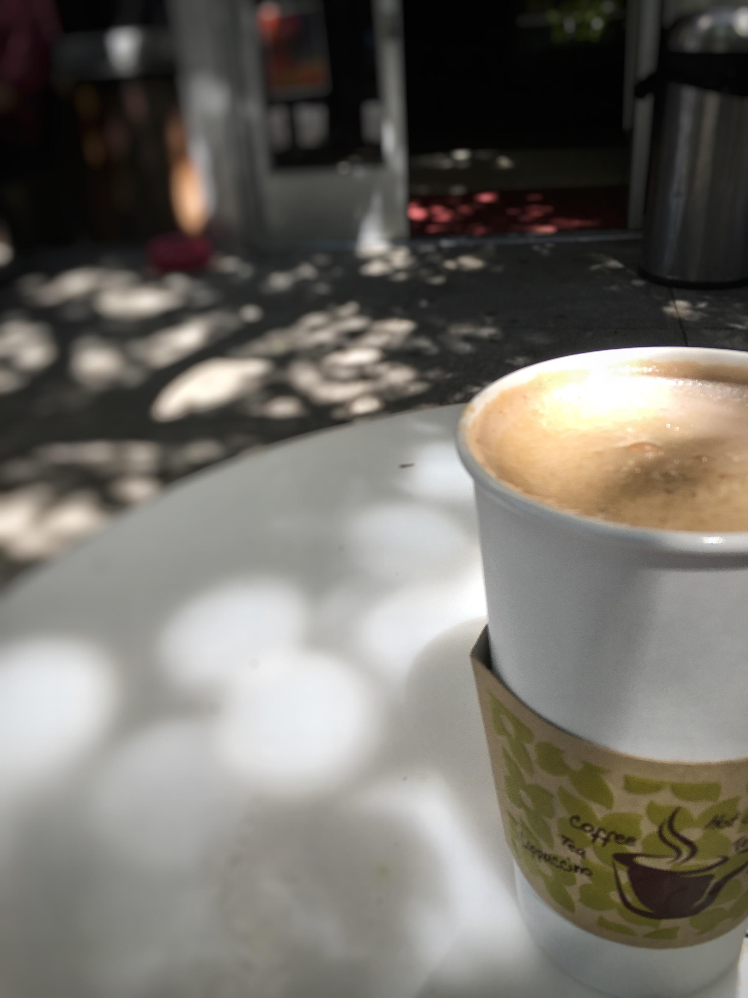 Caramel Mocha latte and beautiful weather in San Francisco!