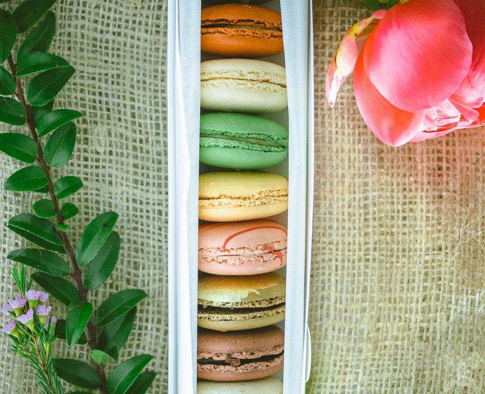 Beautiful macarons from Chantel Guillon- they might be the best macarons that I have ever had. They have the perfect texture, chewy, but with a crunch.