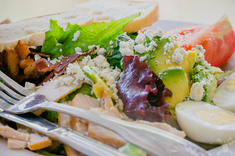 This is an awesome salad that Braedon and I ate at Dolores Park Cafe last week, see he eats everything!
