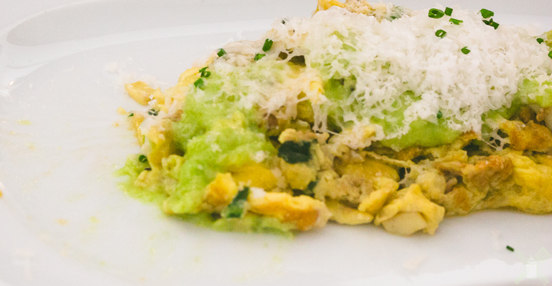 This is a fantastic combination of tangy, earthy, and eggs, so good!