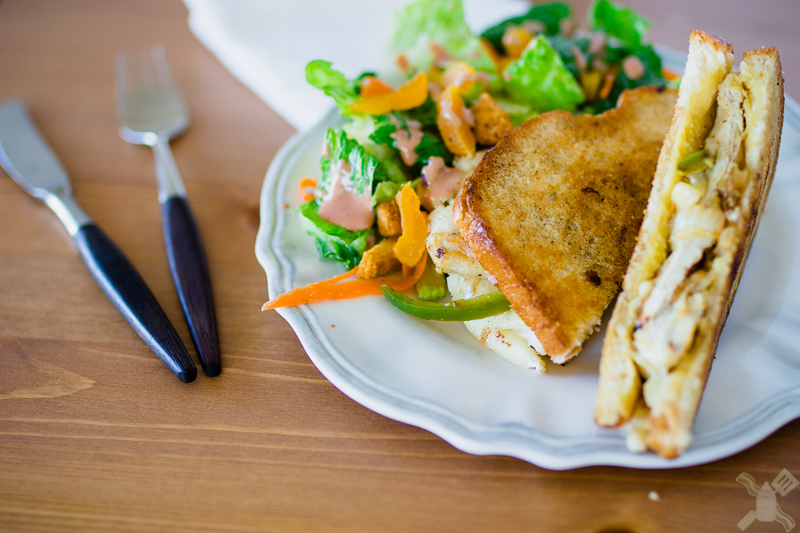 An amazing sweet and spicy chicken brie melt. It has an amazing flavor of apricots, jalapenos, chicken, and creamy brie to top it off. Perfect for an easy meal.