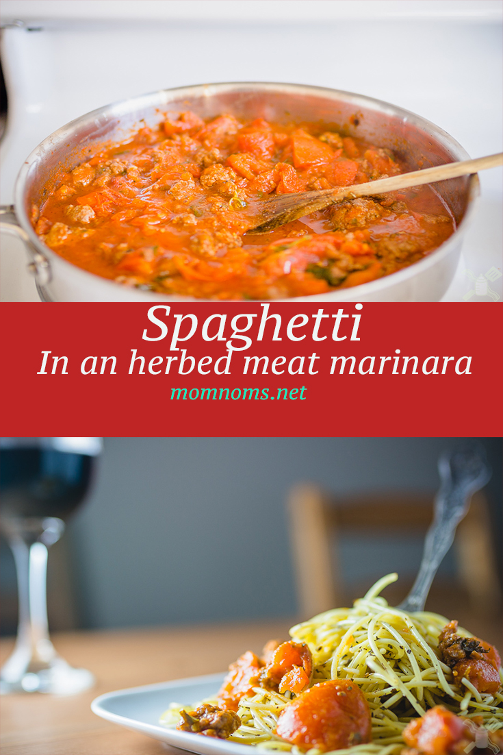 Today's blog is a fantastic recipe for a spaghetti in an herbed meat marinara sauce. Super easy to make, easier to freeze and use again, and the easiest to eat and feel comfy afterwards.