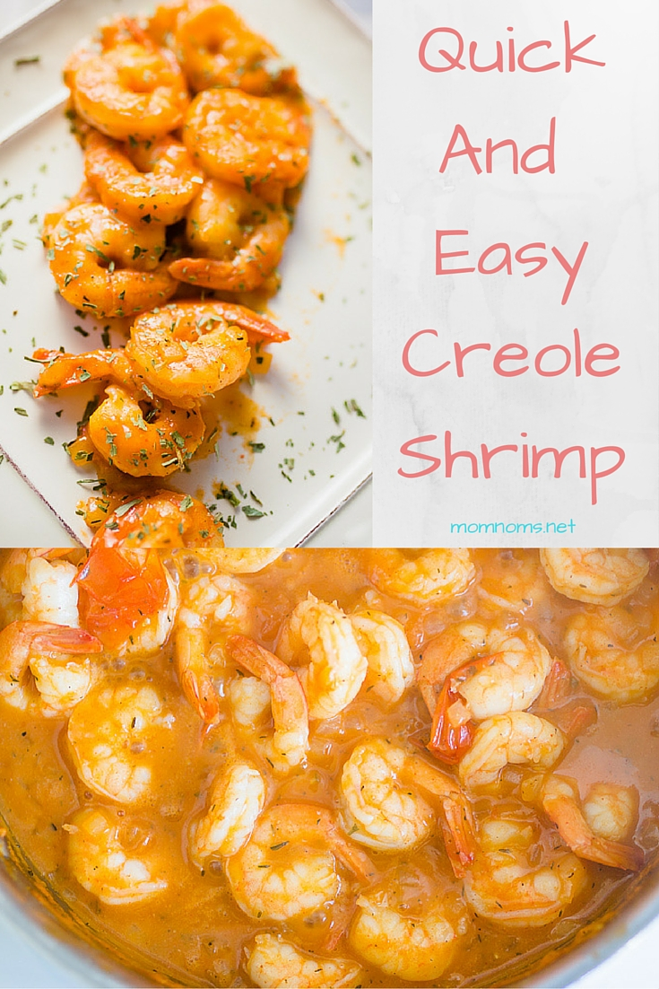 Quick, easy, flavorful creole shrimp for when you need just a little more heat in your life.   This is the perfect weekday meal, takes about 30 minutes to make, and even less time to eat and enjoy!