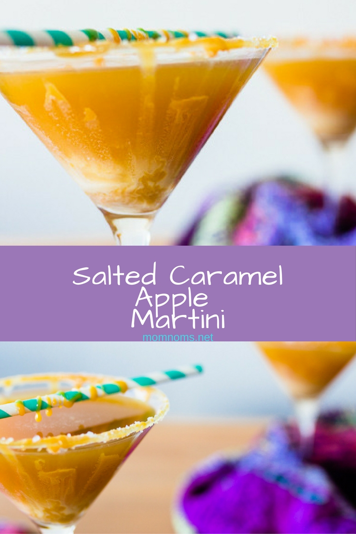 Salted Caramel Apple Martinis make me want to put on my big comfy sweater, curl up next to a fire, and enjoy cooler weather.