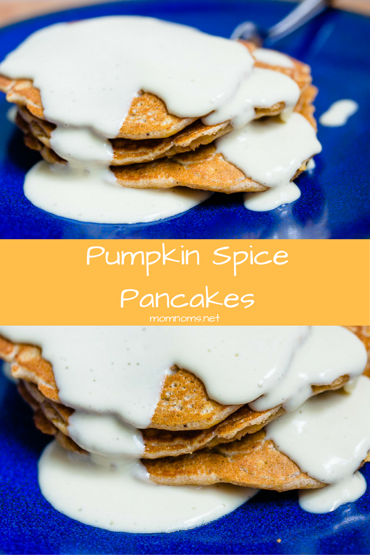 Pumpkin is everywhere you look, so you might as well give in to this wonderful flavor that only comes in the fall.  I have made you pumpkin spice pancakes with a cream cheese syrup to help you get through fall!