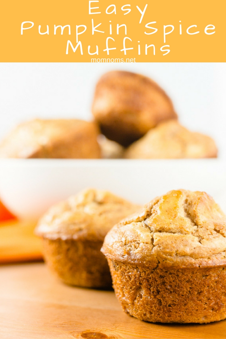 These pumpkin spice muffins are very easy to make, have low sugar, and are perfect for brunch with your little one.  There's a slight spice that reminds you of fall with the flavor that everyone has come to love this time of year.