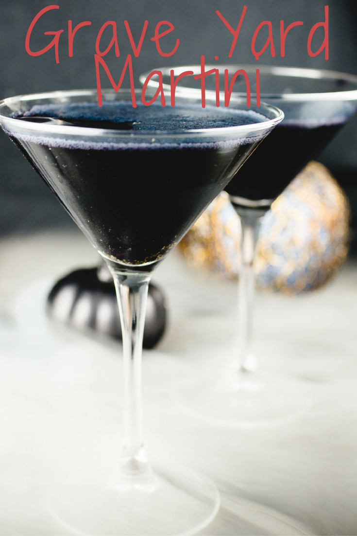 Walking through the grave yard, you hear a noise.  A noise that only this martini could stir  So grab one and hope you don't see anything strange in the night
