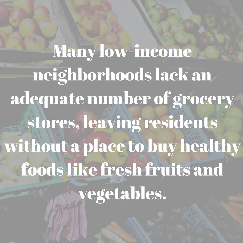 Many low-income neighborhoods lack an adequate number of grocery stores, leaving residents without a place to buy healthy foods like fresh fruits and vegetables..png