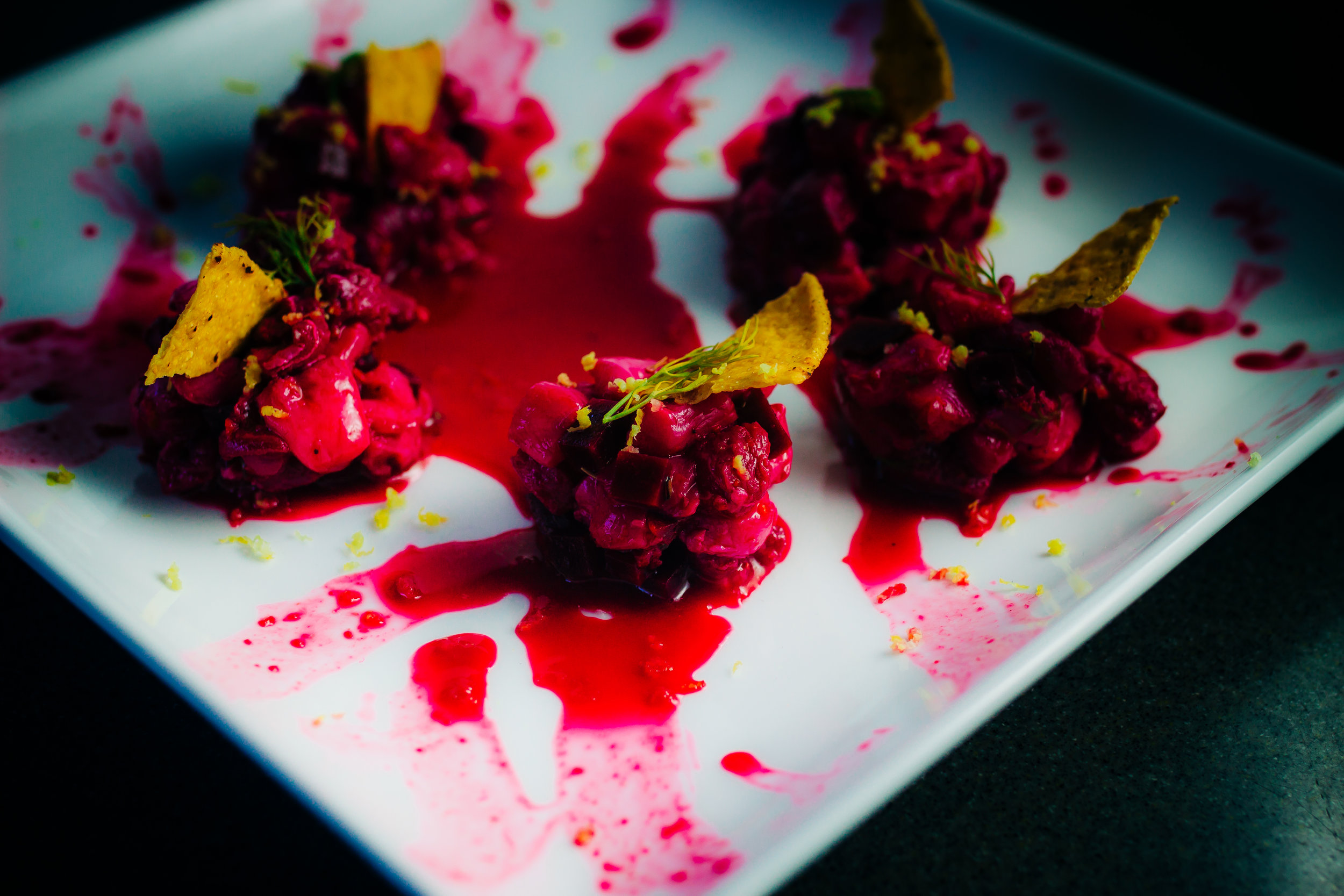 Pickled Beet Ceviche