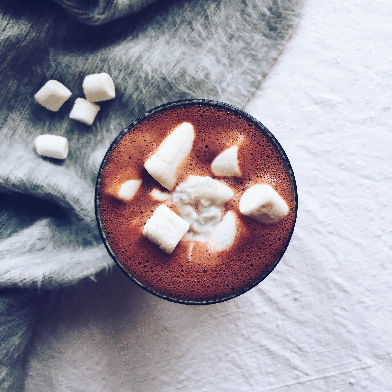 Vegan red velvet hot chocolate