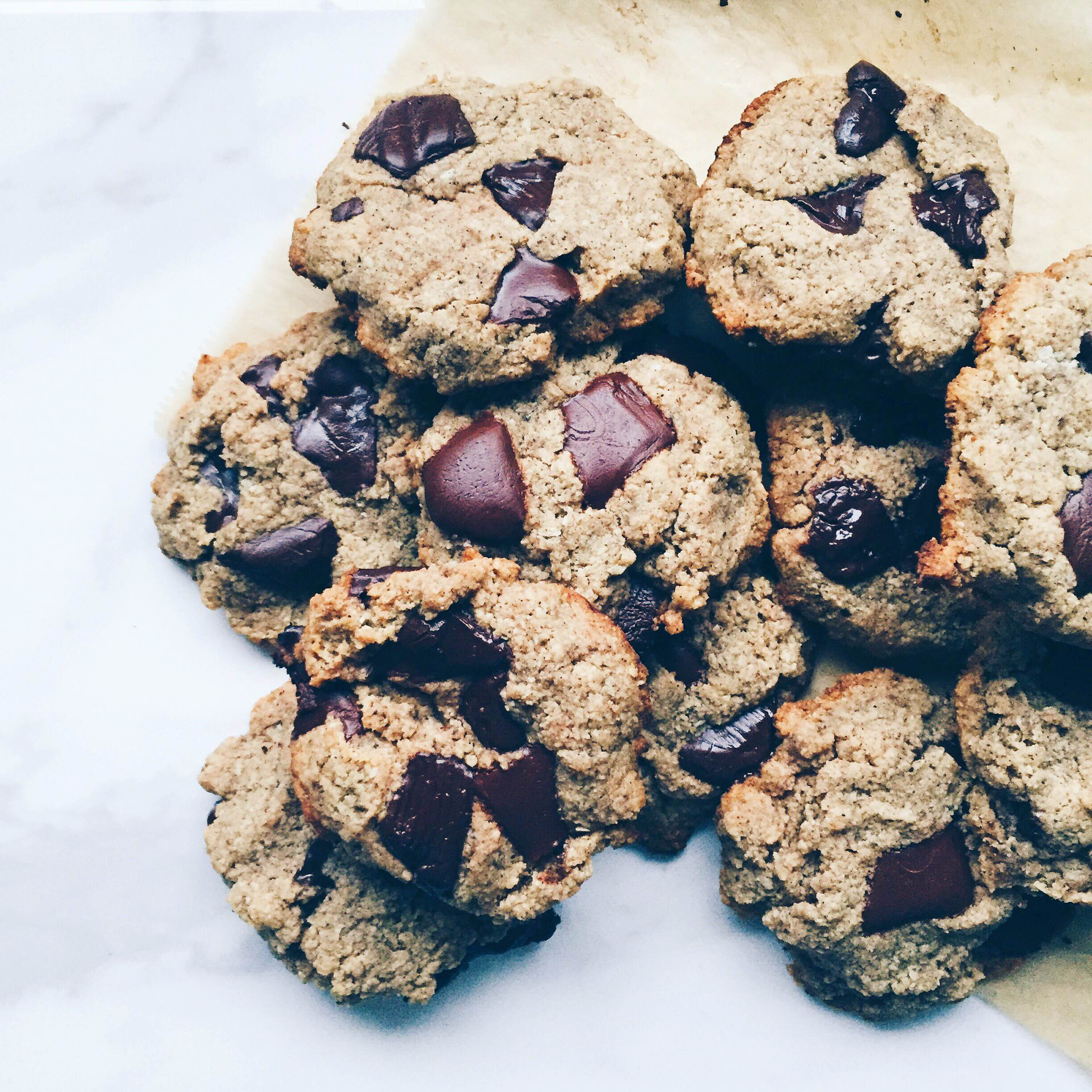 one part plant chocolate chunk cookies