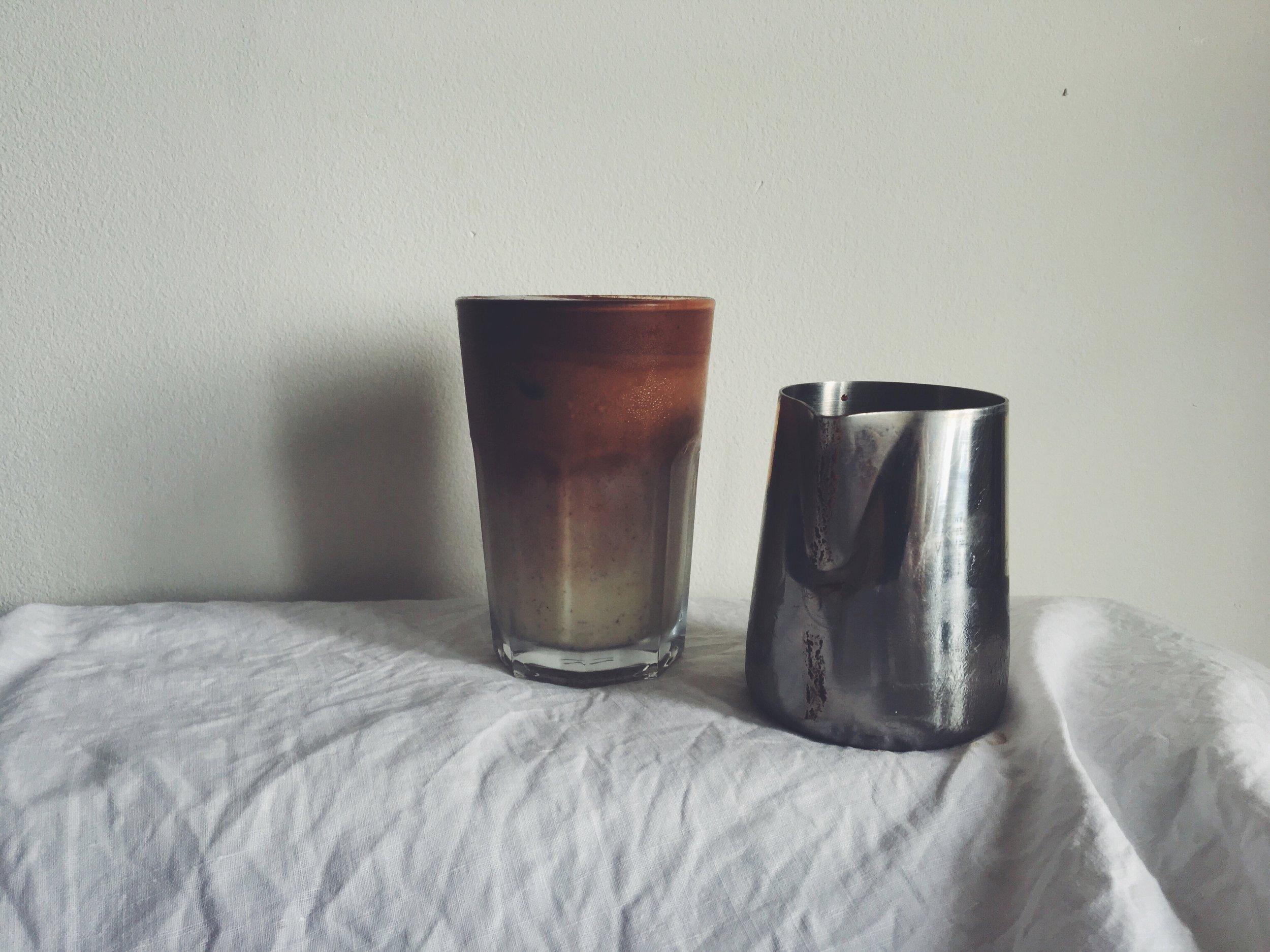 vegan iced chocolate milk